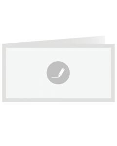 Gevouwen kaart 21x10,5 cm